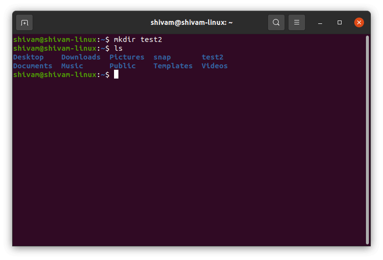 mkdir command is used to create folder or directories