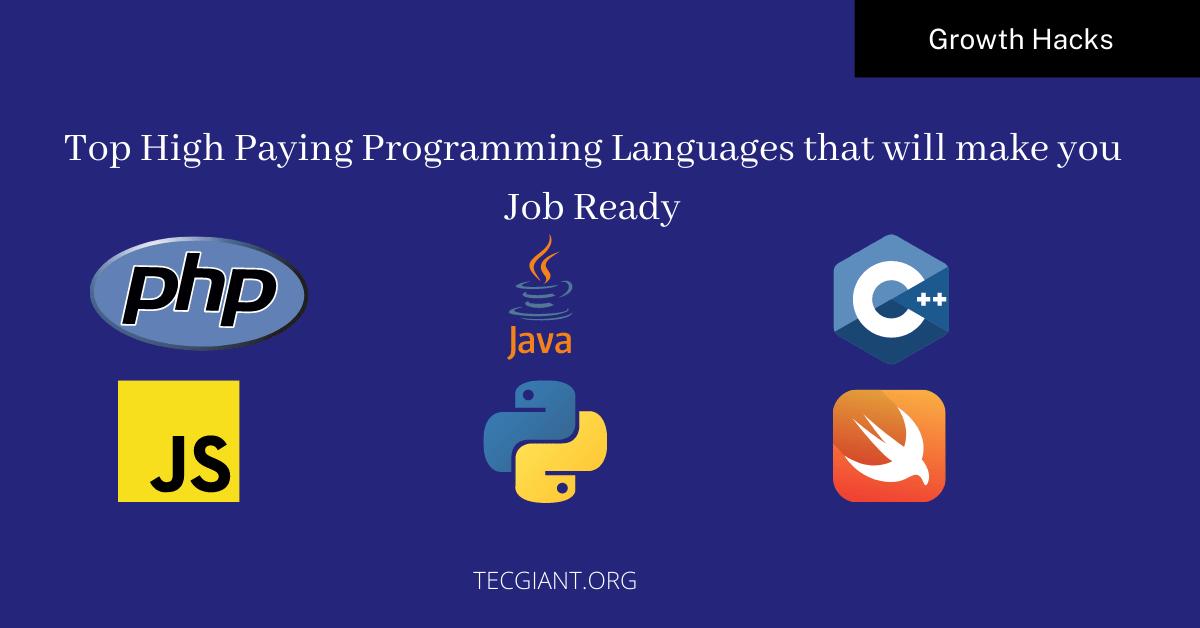 high paying programming languages