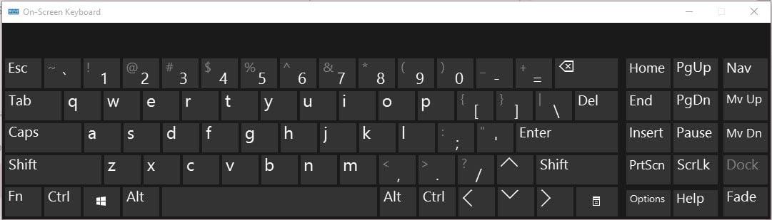 on screen keyboard windows 10